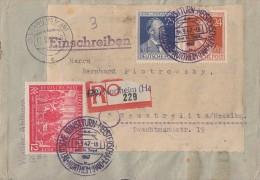 Gemeina. R-Brief Mif Minr.965,963,964 SST Northeim 14.9.47 Dt. Kreisturn-Meisterschaften - Gemeinschaftsausgaben