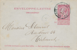 598/23 - Enveloppe-Lettre Fine Barbe BIERSET AWANS 1900 Vers TIRLEMONT - Entiers Postaux