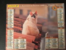 Calendrier Almanach Du Facteur 1999 , CHATS , NORD , Cartier-Bresson - Calendriers