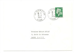 Aisne - GUICHET ANNEXE : VIERZY GA. 1974 - 1921-1960: Modern Period