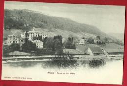 PAF-06  Brugg  Kaserne Mit Park, Aar. Pioneer. Nicht Gelaufen, Frauenlob-Lüpold - AG Argovie