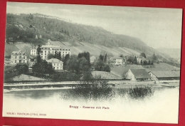 PAF-06  Brugg  Kaserne Mit Park, Aar. Pioneer. Nicht Gelaufen, Frauenlob-Lüpold - AG Aargau