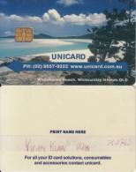 AUSTRALIA - Whitehaven Beach/Whitsunday Islands QLD, Unicard Recharge Smart Card, Sample - Australia