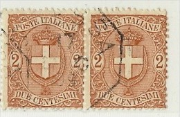 LDR11 - ITALIE REGNO  UMBERTO I EMISSION DE 1896/97 2c EN PAIRE HORIZONTALE  OBLITEREE - 1878-00 Humbert I