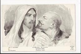 Exceptionnelle CPA - Le Baiser De Judas ( A Traitor's Kiss) Illustrateur Russe Solomko (judaica, Edition Patriotique) - Solomko, S.