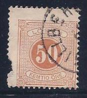 Sweden, Scott # J21 Used Numeral, 1877, Edge Defect - Postage Due