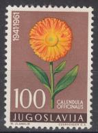 Yugoslavia Republic 1961 Flowers Flora Mi#951 Single Key Stamp From Set, Mint Hinged - 1945-1992 Socialist Federal Republic Of Yugoslavia