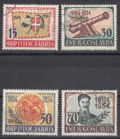 Yugoslavia Republic 1954 Mi#751-754 Used - Gebruikt