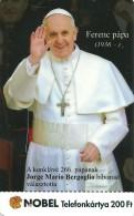 POPE FRANCIS JORGE MARIO BERGOGLIO PAPAL CONCLAVE CARDINAL CHATOLIC CHURCH VATICAN ARGENTINA ARGENTINE MMK 370 * Hungary - Ungheria