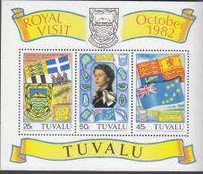 TUVALU, 1982 ROYAL VISIT MINISHEET MNH - Tuvalu (fr. Elliceinseln)