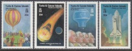 TURKS/CAICOS Is, 1983 MANNED FLIGHT 4 MNH - Turks And Caicos