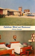 258731-Georgia, Albany, Oglethorpe Motel & Restaurant, Interior & Exterior Views, James J Gillick - Albany