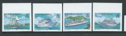 British Virgin Islands 1986 Cruise Ship Set Of 4 Imperforate MNH - British Virgin Islands