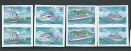 British Virgin Islands 1986 Cruise Ship Set Of 4 Imperforate Pairs MNH - British Virgin Islands
