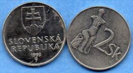=(r65)  SLOVAQUIE / SLOVAKIA 2 KORUNA 1993 - Slovaquie