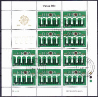 Malta - Europa  (Mi.Nr. 704/5 Kleinbogen - Sheetlet – Feuillet) 1984 - Gest. Used Obl. - Europa-CEPT
