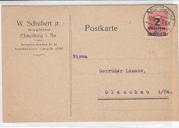 Karte Mit 312 Aus Elsterberg 13.10.23 Von Strangfärberei Schubert - Briefe U. Dokumente