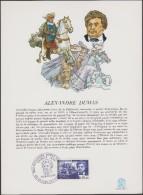 France 1970 Y&T 1628. Carte Spéciale Premier Jour, Alexandre Dumas, Romancier, Fils De Général. Les Trois Mousquetaires - Ecrivains