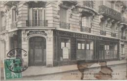 CPA 75 PARIS 66 Rue Lecourbe Banque Société Générale Agence Bureau A.C 1909 - District 15