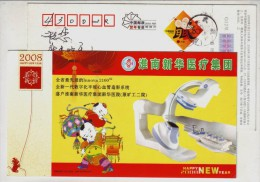 New Type Angiocardiographic System,China 2008 Xinhua Medical Group Advertising Pre-stamped Card - Medicine