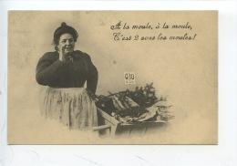 En 1900 : A La Moule à La Moule... Vendeuse à La Criée (repro Euredis Neuve) - Fishing