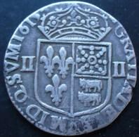 LOUIS XIII LE JUSTE Quart D´écu De Béarn 1615 Pau Très Belle Monnaie Et Rare - 1610-1643 Louis XIII Le Juste