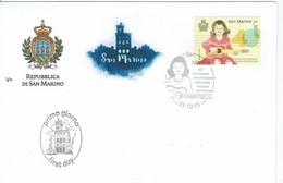 FDC SAN MARINO NASCITA ISTITUTO MUSICALE SAMMARINESE - GUITARE - Música