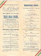 """1916 - LOCANDINA PROGRAMMA CONCERTO, PESCA,.. All'OSPIZIO SAN VINCENZO De PAOLI Bologna """" Festa Delle Ciliegie """" - Programs"""