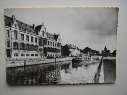 OUDENAARDE AUDENARDE Zicht Op Schelde En Justitiepaleis Péniche Bateau Batellerie Marinier Canaux Canal Bief Ecluse - Oudenaarde