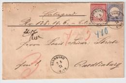 DR, 1874, Wertbrief , #4629 - Deutschland