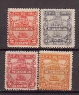 Nicaragua , 1890 , Mi.Nr. 21 / 23 / 24 / 29 * Gefalzt - Nicaragua