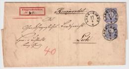 DR, 1875, Reco, Früher R-Zettel!, #4631 - Briefe U. Dokumente