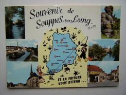 77 SOUPPES-Sur-LOING Péniche Bateau Batellerie Marinier Canal Canaux Ecluse - Souppes Sur Loing