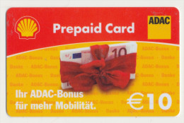 Shell 10 € Geschenkkarte / Giftcard - ADAC  -  Gebraucht / Leer  !!!!! ( 246 ) - Gift Cards