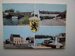 59 PONT De La DEULE FLERS-en-ESCREBIEUX Péniche Bateau Batellerie Marinier Canal Canaux Ecluse - France