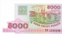 Billet Bielorussie 5 000 Roubles NEUF - Monedas