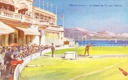 Cpa  Monaco Monté Carlo Le Stand De Tir Aux Pigeons Illustrateur Colorisée Robaudy - Monte-Carlo