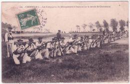 286-CHERBOURG - Les Compagnies De Débarquement à L'exercice Sur Le Terrain De Chantereine -ed. P.E. - Cherbourg