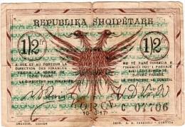RARE BILLET 1/2 Francs Korce  REPUBLIKA SHQIPETARE Du 10.10.1917 GJYSME FRANGE - Albanie