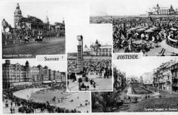 OOSTENDE - FLANDRE OCCIDENTALE - BELGIE - BELGIQUE - PEU COURANTE CPA MULTIVUES - EDITEUR NELS. - Oostende