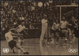 UNITED NATIONS NEW YORK 1996 - SPORT AND THE ENVIRONMENT - VOLLEYBALL OLYMPIC GAMES TOKYO 1964 - Volleyball