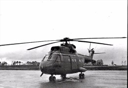 CARTE POSTALE GRAND FORMAT ORIGINALE IMPRIMERIE L´E.S.A.L.A.T  40106- DAX : HELICOPTERE SA 330 PUMA DE SUD AVIATION - Helicópteros