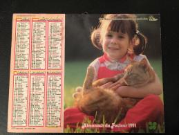 Calendrier Almanach Du Facteur 1991 , CHAT, Chien , REIMS + Poster Tom Et Gerry 42 X 55 - Calendriers