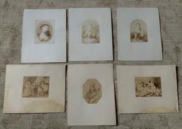 4  RIPRODUZIONI FOTOGRAFICHE Color Seppia Dei PRIMI '900 Da QUADRI ANTICHI - Antiche (ante 1900)