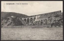 CASTIGLIONCELLO - Ponte Di Quercetano Con Treno - Formato Piccolo - Viaggiata 1914 - Other Cities