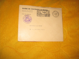ENVELOPPE UNIQUEMENT  DE 1968. / MAIRIE DE CHATENOY LE ROYAL A RIORGES. / CACHET + FLAMME CHALON SUR SAONE - Marcophilie (Lettres)