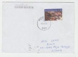 GOOD SLOVENIA Postal Cover To ESTONIA 2010 - Good Stamped: Art - Slowenien