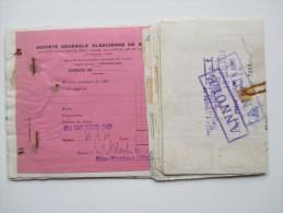 Frankreich 1933 Kolonie Marokko Sparbuch / Societe Generale Alsacienne De Banque. Mit Fiskalmarken!! Oudjda Maroc - Briefe U. Dokumente
