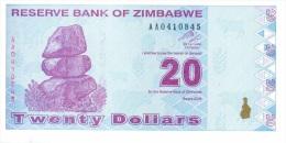 Billet Zimbabwe 20 Dollars NEUF - Zimbabwe
