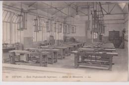 NEVERS : ECOLE PROFESSIONNELLE - ATELIER MENUISERIE - ECRITE 1913 - 2 SCANS - - Nevers